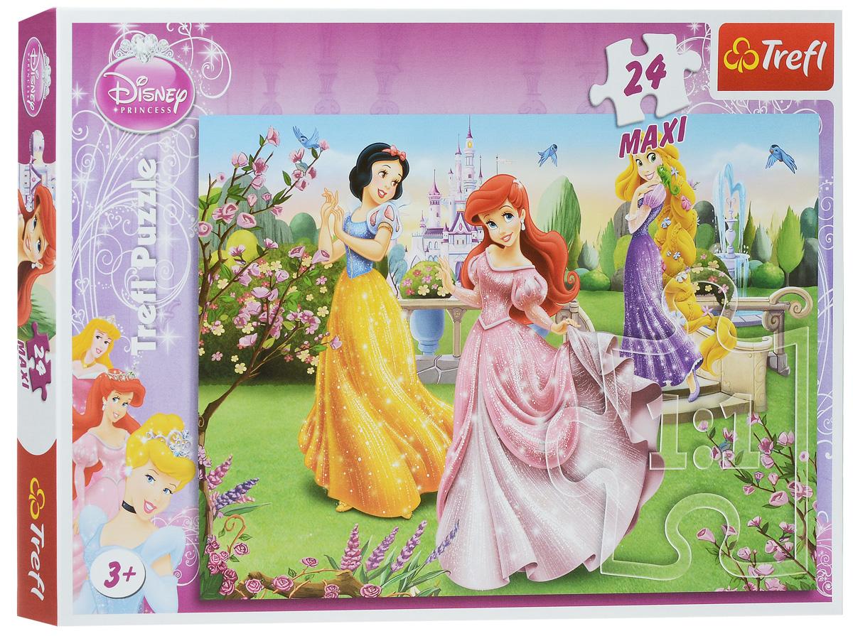Trefl Пазл Принцессы возле фонтана14135Пазл Trefl Принцессы возле фонтана станет замечательным и увлекательным подарком для маленьких леди, которые любят очаровательных принцесс из популярного мультфильма. Собрав этот пазл, включающий в себя 24 элемента, ребенок получит картинку с изображением принцесс, гуляющих по зеленому двору. Одеты они в роскошные сверкающие платья, что делает их еще привлекательней. Такую картинку можно собирать снова и снова, ведь это увлекательное и веселое занятие. А качественные материалы, из которых изготовлен пазл, позволят ему оставаться долговечным и не терять ярких красок даже по истечении долгого времени. Собирание пазла развивает у ребенка мелкую моторику рук, тренирует наблюдательность, логическое мышление, знакомит с окружающим миром, с цветом и разнообразными формами, учит усидчивости и терпению, аккуратности и вниманию.