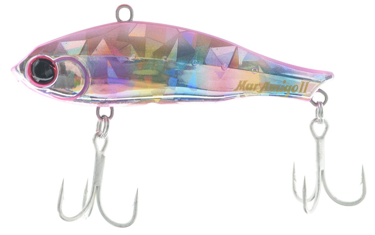 Воблер Maria Mar Amigo II, до дна, цвет: розовый, голубой, 6,5 см, 15 г49729Воблер типа раттлин Maria Mar Amigo II предназначен для ловли хищных видов рыб. Изделие обладает хорошими полетными качествами и быстрой скоростью погружения. Корпус выполнен из прочного металла и пластика, благодаря чему хищным рыбам сложно сломать воблер. Приманка оснащена двумя тройными крючками.