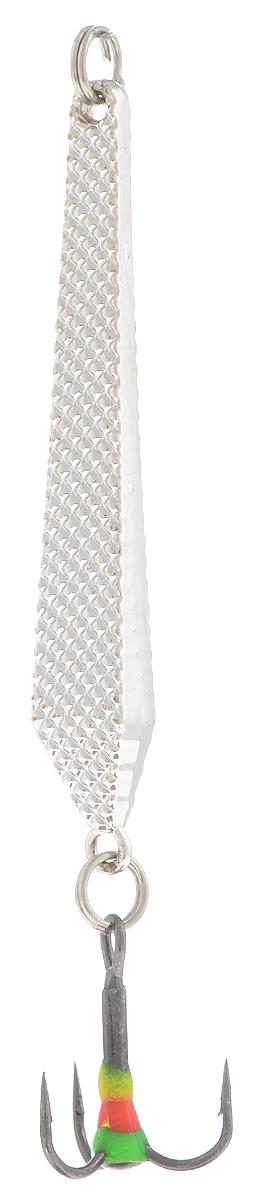 Блесна зимняя SWD, цвет: серебряный, 55 мм, 6 г48190Блесна зимняя SWD - это классическая вертикальная блесна. Выполнена из высококачественного металла. Предназначена для отвесного блеснения рыбы. Блесна оснащена тройником со светонакопительной каплей.