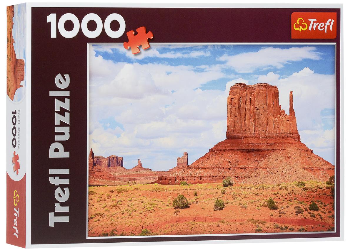Trefl Пазл Долина Монументов США10315Пазл Trefl Долина Монументов. США, без сомнения, придется вам по душе. Собрав этот пазл, включающий в себя 1000 элементов, вы получите великолепную картину с изображением национального парка Долина монументов в Аризоне. Скалы удивительной формы, выжженная красная земля и голубое небо так и дышат ковбойскими вестернами. Соберите пазл и получите красивое вдохновляющее изображение уникального природного явления. Изделие выполнено из экологически чистых материалов, безопасных для здоровья. Такая картина станет отличным украшением интерьера. Собирание пазла - прекрасное времяпрепровождение для всей семьи.