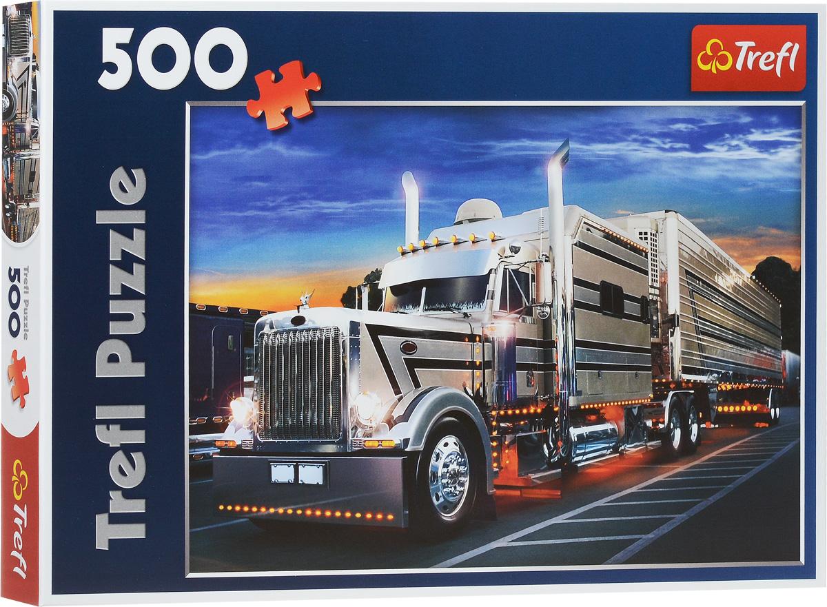 Trefl Пазл Серебряный грузовик37121Пазл Trefl Серебряный грузовик станет хорошим подарком для любителей автомобилей. Собрав этот пазл, включающий в себя 500 элементов, вы получите прекрасное изображение в виде роскошного хромированного грузовика, который подсвечивается тысячами лампочек, что делает его более устрашающим и массивным. Изделие выполнено из самых качественных, безопасных и экологически чистых, оно соответствуют европейским стандартам качества. Собирание пазла - прекрасное времяпрепровождение для всей семьи.