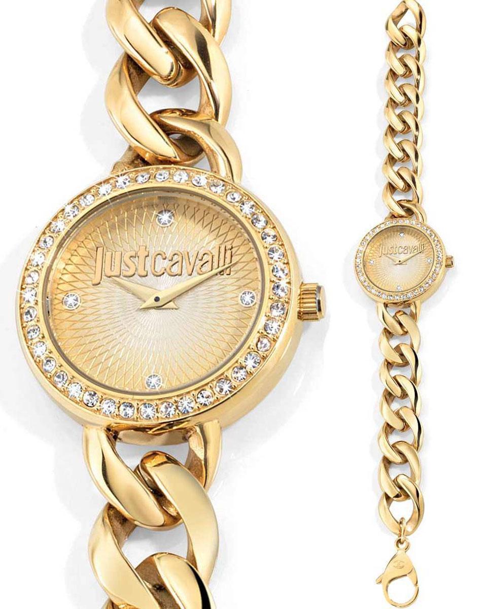Часы наручные женские Just Cavalli J Chain, цвет: золотой. R7253212502
