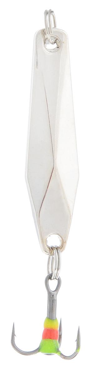 Блесна зимняя SWD, цвет: серебряный, 40 мм, 4 г48238Блесна зимняя SWD - это классическая вертикальная блесна. Выполнена из высококачественного металла. Предназначена для отвесного блеснения рыбы. Блесна оснащена тройником со светонакопительной каплей.