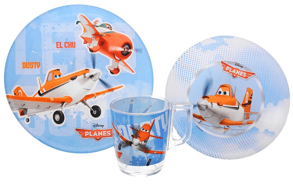 Luminarc Набор детской посуды Disney Planes 3 предметаJ0804Набор Luminarc Disney Planes состоит из кружки, тарелки и салатника, изготовленных из ударопрочного стекла. Предметы набора оформлены изображением героев мультфильма Самолеты. Такой набор привлечет внимание вашего ребенка и не позволит ему скучать. Яркий дизайн посуды превратит прием пищи ребенка в увлекательное занятие. Предметы набора можно мыть в посудомоечной машине и использовать в микроволновой печи. Объем кружки: 250 мл. Диаметр кружки по верхнему краю: 7,5 см. Высота кружки: 9 см. Диаметр тарелки: 20 см. Диаметр салатника: 16,5 см. Высота салатника: 4,5 см.