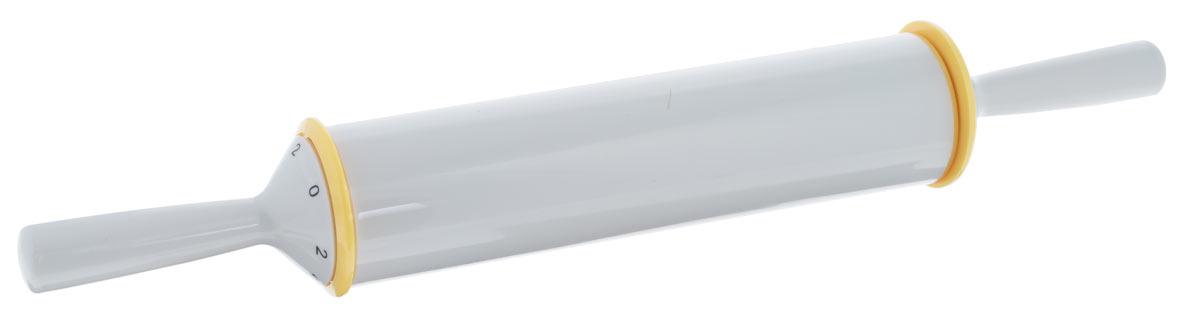 Скалка с регулируемой толщиной теста Tescoma Delicia, длина 50 см630182Скалка с регулируемой толщиной теста, изготовлена из высокопрочного пластика. Можно мыть под проточной водой. Скалка с регулируемой толщиной теста, изготовлена из высокопрочного пластика. Не рекомендуется мыть в посудомоечной машине. Использование: Ручку установите на выбранное значение 2, 4, 6 или 8 (соответствует толщине теста в мм) и сохраняйте ее в нужном положении в течение раскатывания, постепенно раскатайте тесто на выбранную толщину. Максимальная ширина теста, раскатанного на необходимую толщину, соответствует ширине скалки - 26 см. При установке на ручке цифры 0, скалка работает как классическая скалка для теста.