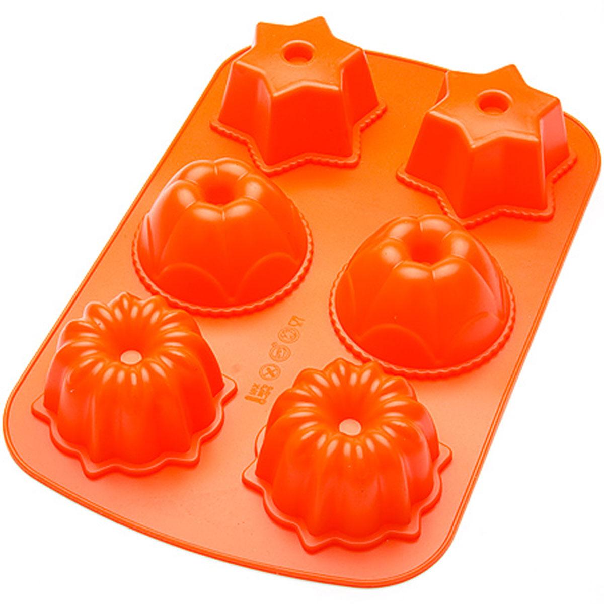24636 Форма для выпечки 33,5х21см силикон МВ (х24)24636Форма для выпечки Материал: силикон. Размер: 33,5 х 21 х 4,7 см. Средний размер одной ячейки: 8,5 х 4,7 см. Количество ячеек: 6 шт. Вес: 219 г. Форма для выпечки и заморозки Mayer & Boch выполнена из силикона и предназначена для изготовления конфет, мармелада, желе, льда и выпечки. На одном листе расположено 6 небольших ячеек различной формы. Оригинальный способ подачи изделий не оставит равнодушными родных и друзей. Силиконовые формы выдерживают высокие и низкие температуры (от -40°С до +230°С). Они эластичны, износостойки, легко моются, не горят и не тлеют, не впитывают запахи, не оставляют пятен. Силикон абсолютно безвреден для здоровья. Не используйте моющие средства, содержащие абразивы. Можно мыть в посудомоечной машине. Формы для выпечки и заморозки Mayer & Boch - отличный подарок! Они удобны и необходимы любой хозяйке!