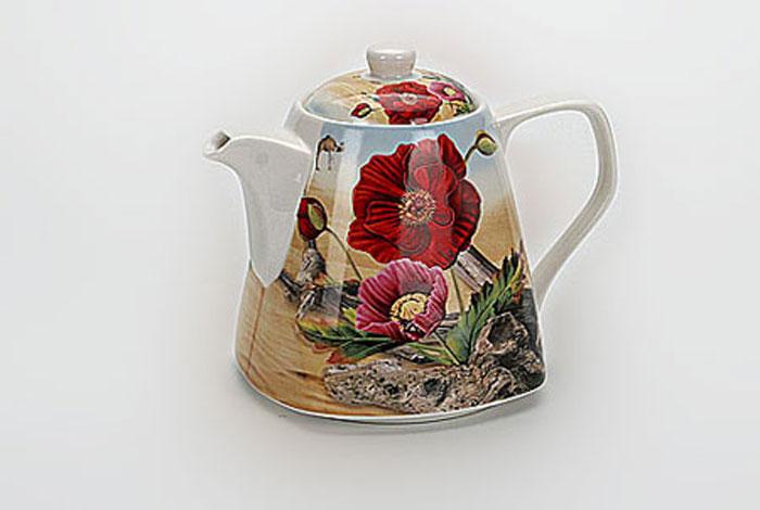 4973 Чайник заварочный 0,8л керамDeset show(х24)4973Заварочный чайник керамический Обьем : 0,8 л Заварочный чайник поможет вам в приготовлении вкусного и ароматного чая, а также станет украшением вашей кухни. Он изготовлен из высококачественного фарфора и оформлен красочным изображением. Яркий цветочный рисунок придает чайнику особый шарм, он удобен в использовании и понравится каждому. Такой заварочный чайник станет приятным и практичным подарком на любой праздник.