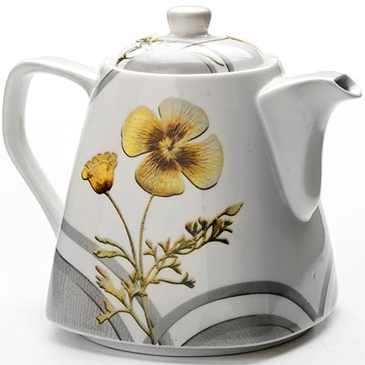 4974 Чайник заварочный 0,8л керам.LR Маки (х24)4974Заварочный чайник керамический Обьем : 0,8 л Заварочный чайник поможет вам в приготовлении вкусного и ароматного чая, а также станет украшением вашей кухни. Он изготовлен из высококачественного фарфора и оформлен красочным изображением. Яркий цветочный рисунок придает чайнику особый шарм, он удобен в использовании и понравится каждому. Такой заварочный чайник станет приятным и практичным подарком на любой праздник.
