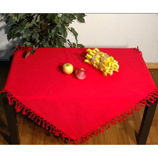 Скатерть Schaefer, прямоугольная, цвет: красный, 130 см х 160 см. 06791-42706791-427Прямоугольная скатерть Schaefer, выполненная из 100% хлопка, станет изысканным украшением стола. По краю изделие декорировано кисточками. Изделие прекрасно послужит для ежедневного использования на кухне или в столовой, а также подойдет для торжественных случаев и семейных праздников. Стильный дизайн и качество исполнения сделают такую скатерть отличным приобретением для дома. Это текстильное изделие станет элегантным украшением интерьера!