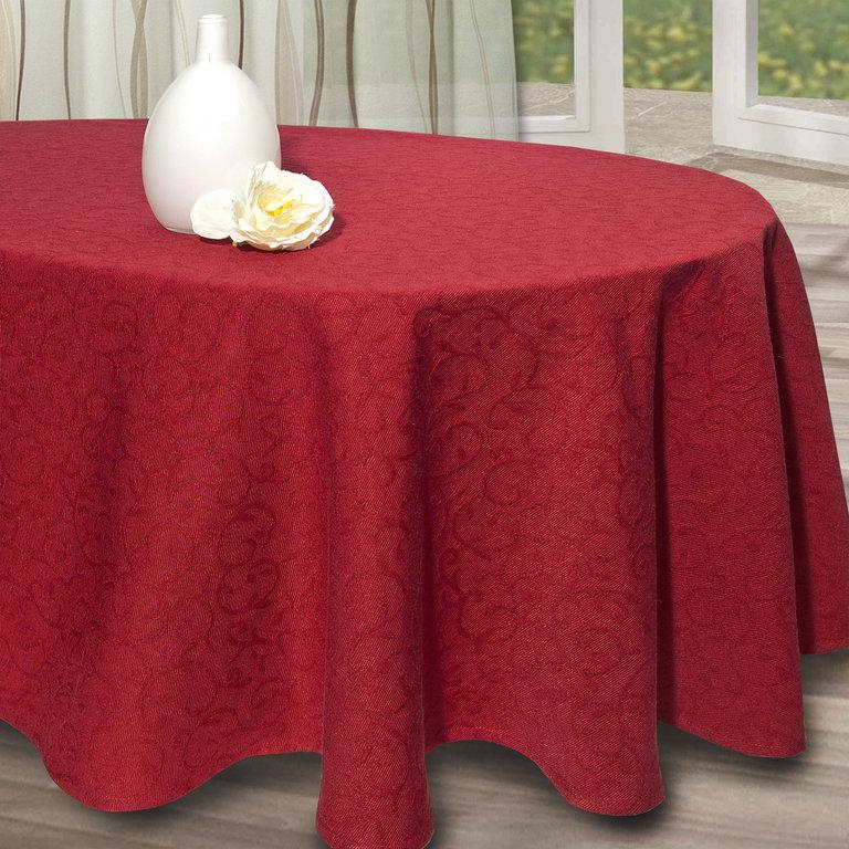 Скатерть Schaefer, овальная, цвет: бордо, 160 см х 220 см07419-439Скатерть Schaefer выполнена из высококачественного полиэстера и оформлена изящным узором, края оснащены текстильной окантовкой. Изделия из полиэстера легко стирать: они не мнутся, не садятся и быстро сохнут, они более долговечны, чем изделия из натуральных волокон. Скатерть Schaefer не останется без внимания ваших гостей, а вас будет ежедневно радовать оригинальным дизайном и несравненным качеством. Немецкая компания Schaefer создана в 1921 году. На протяжении всего времени существования она создает уникальные коллекции домашнего текстиля для гостиных, спален, кухонь и ванных комнат. Дизайнерские идеи немецких художников компании Schaefer воплощаются в текстильных изделиях, которые сделают ваш дом красивее и уютнее и не останутся незамеченными вашими гостями. Дарите себе и близким красоту каждый день! Изысканный текстиль от немецкой компании Schaefer - это красота, стиль и уют в вашем доме.
