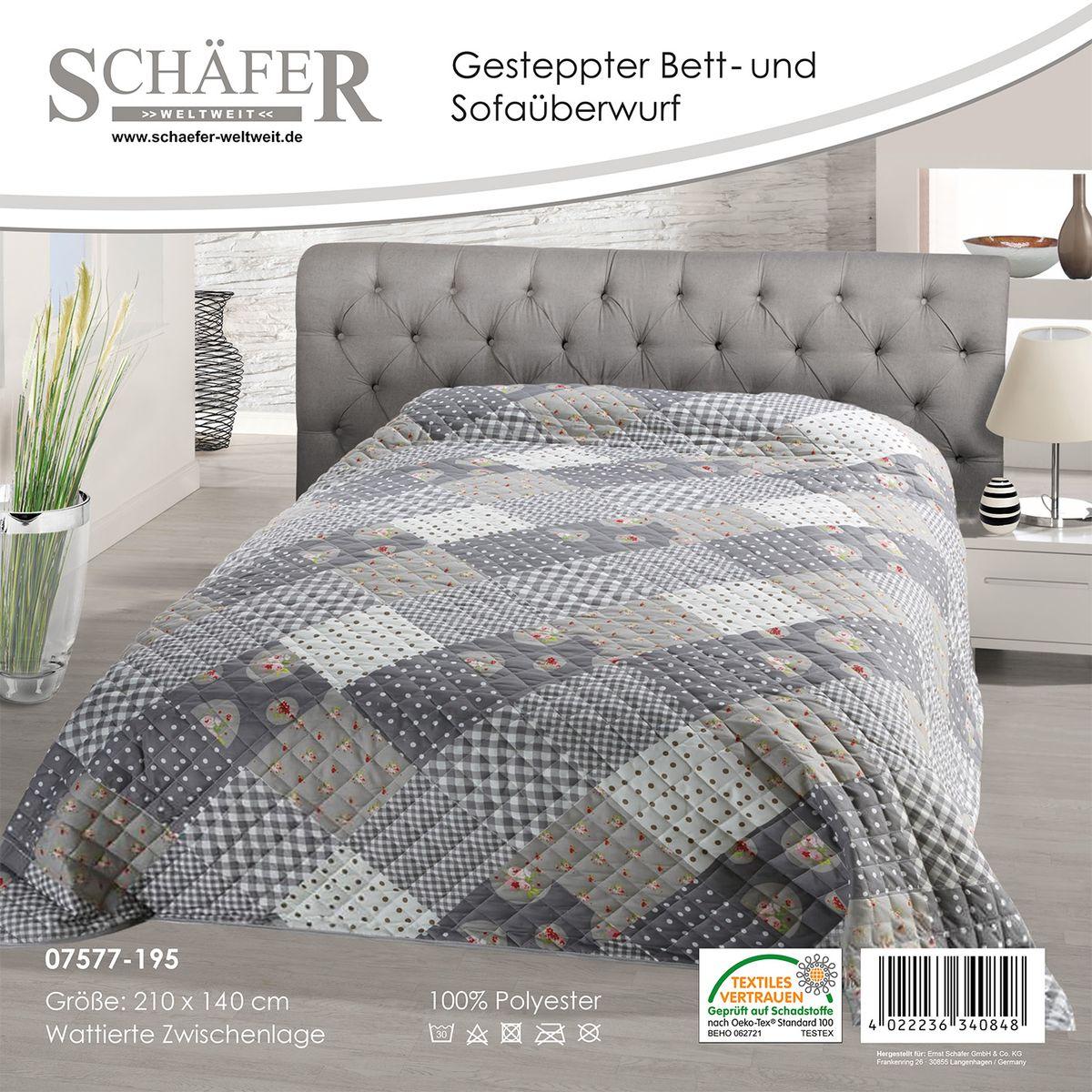 Покрывало Schaefer 220*240см, 100% полиэстер. 07577-19607577-196