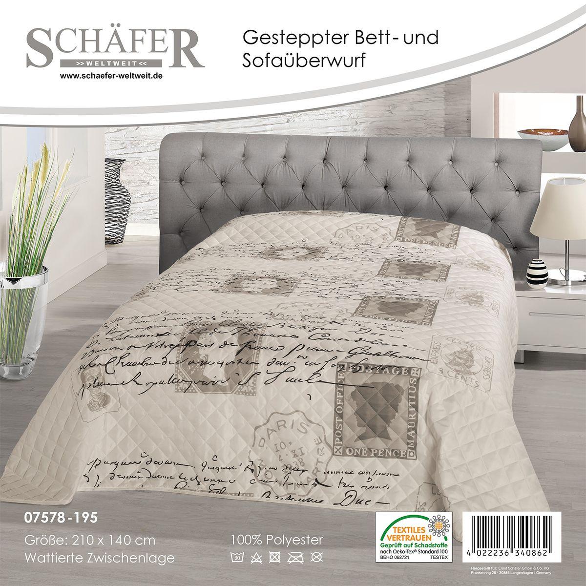 Покрывало Schaefer, цвет: белый, светло-серый, 140 х 210 см07578-195Изящное покрывало Schaefer гармонично впишется в интерьер вашего дома и создаст атмосферу уюта и комфорта. Покрывало выполнено из высококачественного полиэстера и оформлено оригинальным рисунком. Такое покрывало согреет в прохладную погоду и будет превосходно дополнять интерьер вашей спальни. Высочайшее качество материала гарантирует безопасность не только взрослых, но и самых маленьких членов семьи. Покрывало может подчеркнуть любой стиль интерьера, задать ему нужный тон - от игривого до ностальгического. Покрывало Schaefer станет отличным подарком, который будет всегда актуален, особенно для ваших родных и близких, ведь вы дарите им частичку своего тепла! Размер: 140 х 210 см.