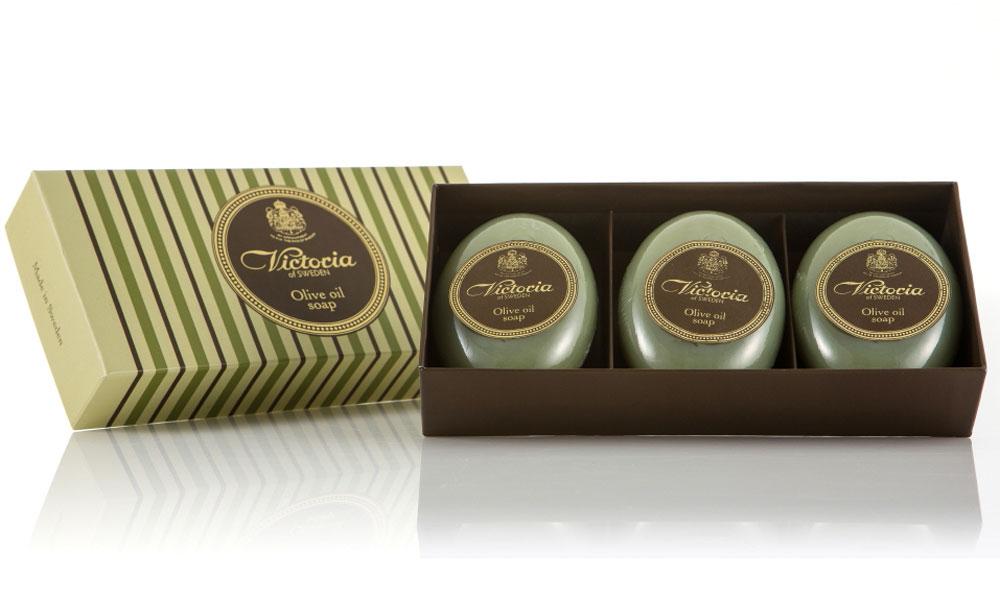 Victoria Soap Victoria Olive Oil Soap Оливковое мыло для тела, 3х100 г