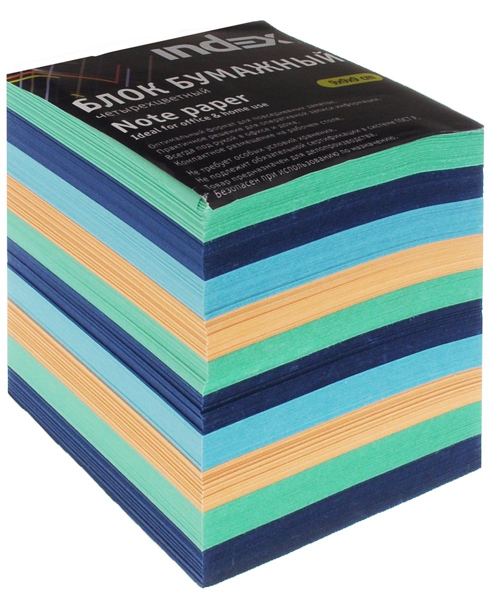 Index Блок для записей многоцветный цвет оранжевый зеленый синий голубой