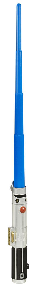 Star Wars Раздвижной световой меч Звездных войн цвет синийB2912EU4_B2914Раздвижной меч Star Wars привлечет внимание маленького воина и не позволит ему скучать. Он выполнен из прочного пластика в виде складного меча с удобной рукояткой. Световой меч - это основное оружие смелых джедаев и зловещих ситхов! Эта игрушка дает шанс молодым падаванам почувствовать себя настоящим героем Звездных войн! Нажатием кнопки и легким движением руки световой меч раздвигается и вы готовы к дуэли. Совместим со всеми мечами из новой коллекции. Уважаемые клиенты! Просим обратить ваше внимание на тот факт, что данный меч не обладает звуковыми и световыми эффектами.