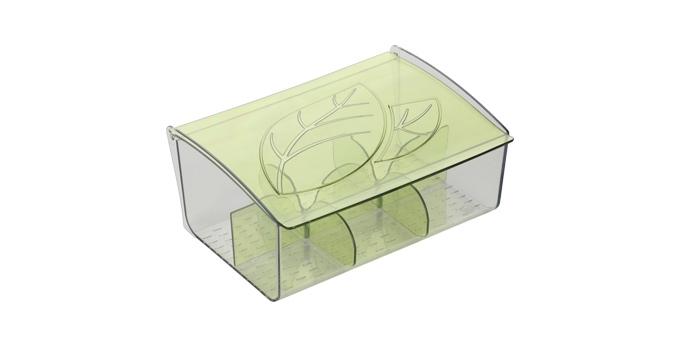 Коробка для чайных пакетиков Tescoma myDRINK308888Коробка для чайных пакетиков Tescoma Mydrink изготовлена из прочного пластика. Изделие имеет 6 отделений для организованного хранения до 60 чайных пакетиков. Благодаря профилированному дну пакетики не скользят и не падают. Перегородки съемные, для более удобного мытья.