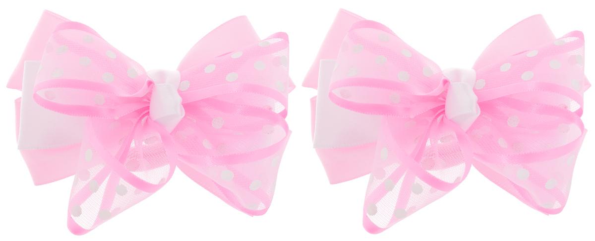 Baby's Joy Резинка для волос цвет светло-розовый белый 2 шт MN 203/2