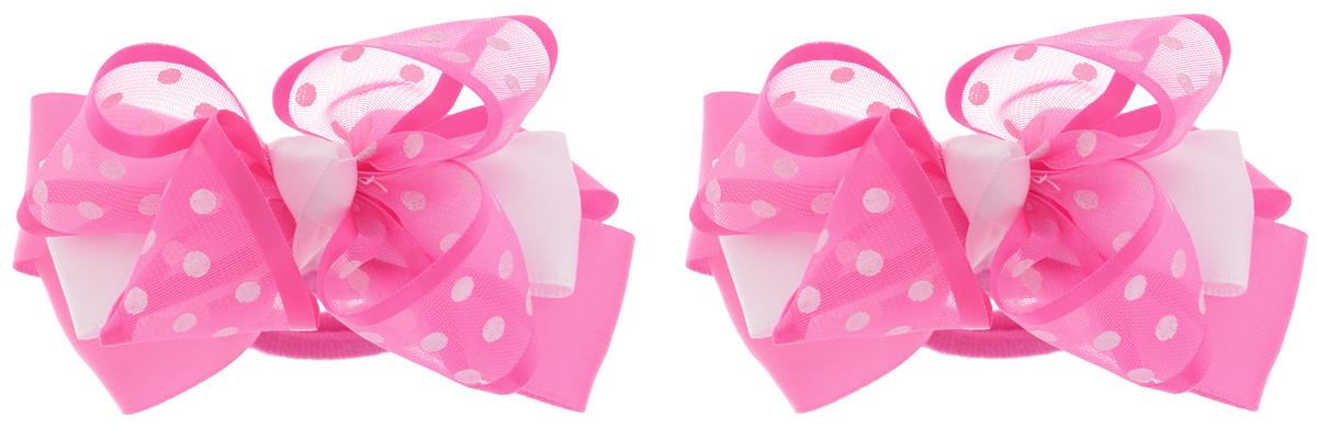 Babys Joy Резинка для волос цвет малиновый белый 2 шт MN 203/2MN 203/2_малиновый/горошекРезинка для волос Babys Joy, изготовлена из текстиля, выполнена в виде банта-бабочки, сплетенного из двух лент - полупрозрачной из органзы, оформленной принтом в виде горошка, и атласной. Резинка для волос Babys Joy надежно зафиксирует волосы и подчеркнет красоту прически вашей маленькой модницы В упаковке: 2 резинки. Рекомендовано для детей старше трех лет.