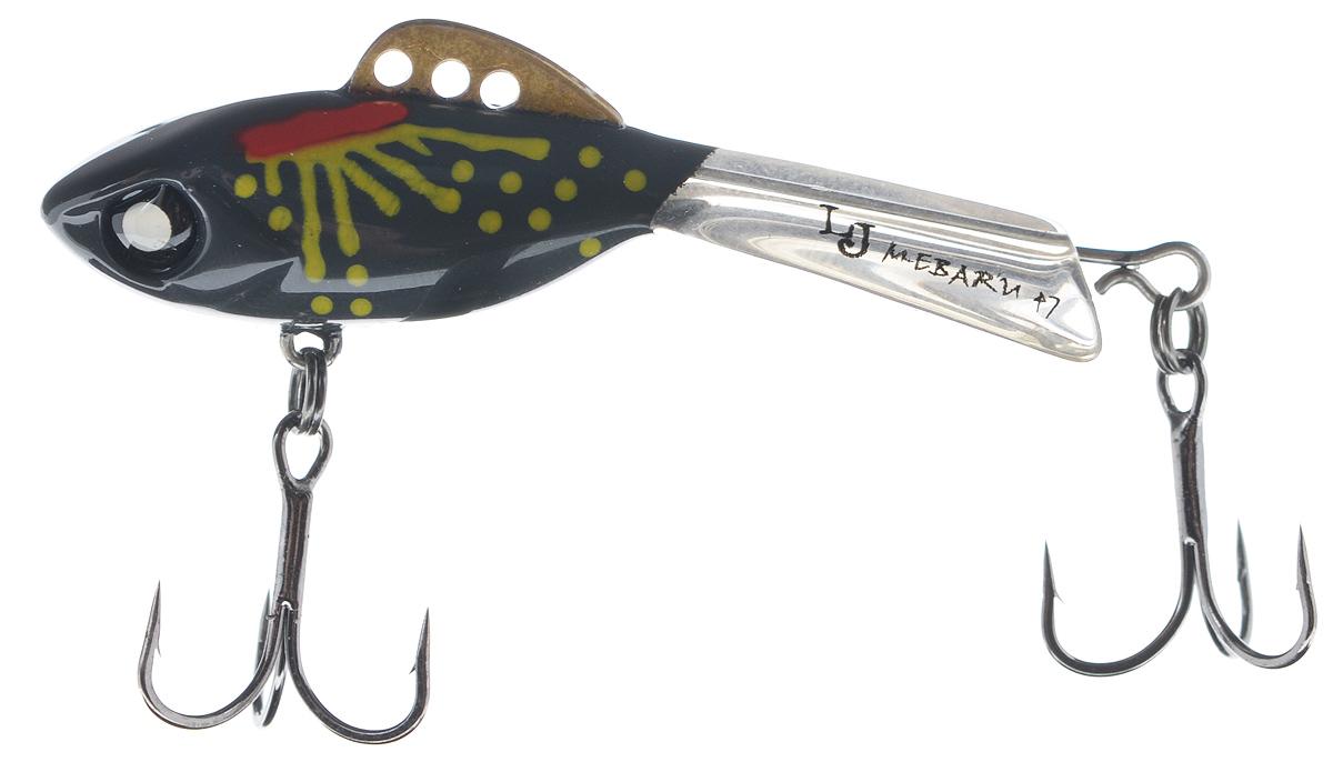 Балансир Lucky John Mebaru, цвет: темно-серый, красный, желтый, 4,7 см, 8 гLJME47-210Lucky John Mebaru - балансир, разработанный в Японии, для ловли хищной рыбы со льда и в отвес с дрейфующей лодки. Приманка изготовлена из свинцового сплава с корпусом и хвостом, сформированными из цельного морозостойкого и ударопрочного пластика ABS. Длинный хвост обеспечивает четкие развороты приманки в крайних точках траектории движения. В спинном плавнике, изготовленном из латуни, имеется три отверстия. В зависимости от точки крепления, игра приманки изменяется. На приманке установлены крючки Owner. Рекомендуется для ловли судака, щуки, форели и окуня.