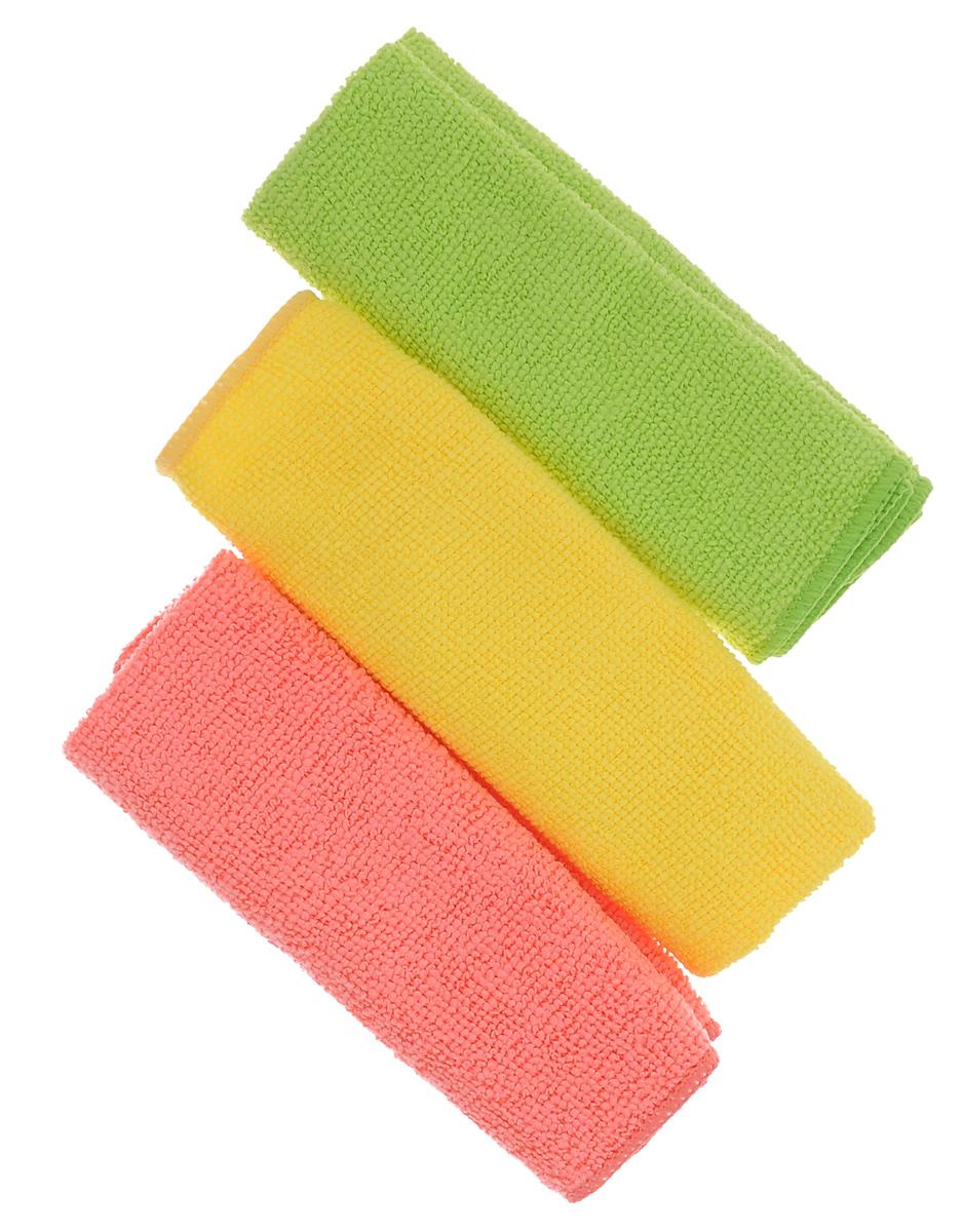 Салфетка из микрофибры York Центи, 30 х 30 см, 3 шт2620Салфетка York Центи изготовлена из микрофибры (полиамид, полиэстер). Салфетка из микрофибры может поглощать количество пыли и влаги, в 7 раз превышающее ее собственный вес. Многочисленные поры между микроволокнами, благодаря капиллярному эффекту, мгновенно впитывают воду, подобно губке. Благодаря мелким порам микроволокна, любые капельки, остающиеся на чистящей поверхности очень быстро испаряются и остается чистая дорожка без полос и разводов. Размер салфетки: 30 см х 30 см.