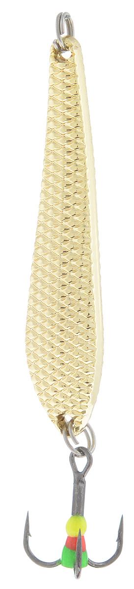 Блесна зимняя SWD, цвет: золотой, 55 мм, 7 г48203Блесна зимняя SWD - это классическая вертикальная блесна. Выполнена из высококачественного металла. Предназначена для отвесного блеснения рыбы. Блесна оснащена тройником со светонакопительной каплей.