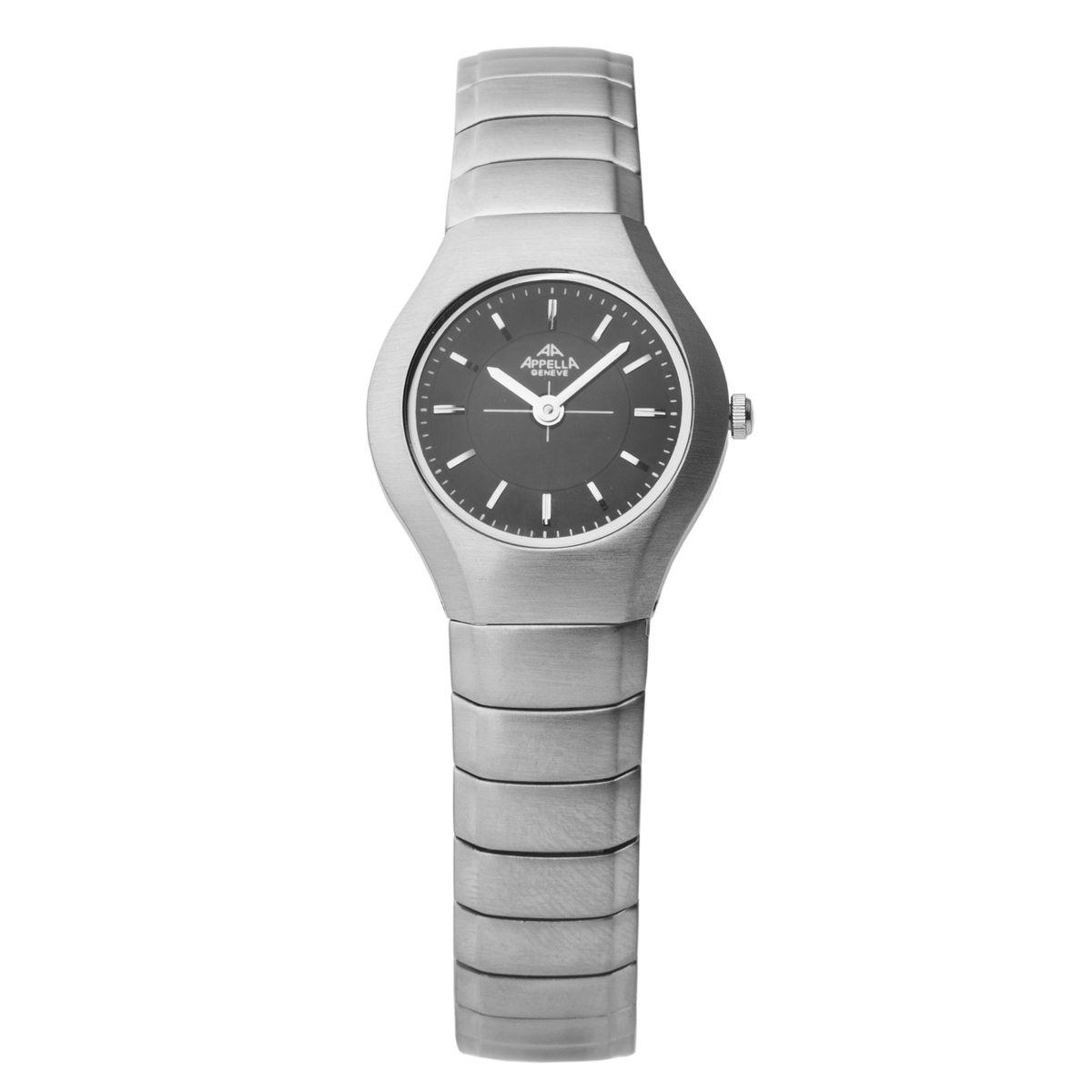 Часы наручные женские Apella, цвет: стальной. A-712-3004A-712-3004Элегантные женские часы Apella выполнены из нержавеющей стали и минерального стекла. Циферблат часов дополнен символикой бренда. Корпус часов оснащен кварцевым механизмом, имеет степень влагозащиты равную 3 atm, а также дополнен устойчивым к царапинам минеральным стеклом. Браслет часов оснащен застежкой-бабочкой, которая позволит с легкостью снимать и надевать изделие. Часы поставляются в фирменной упаковке. Часы Apella подчеркнут изящность женской руки и отменное чувство стиля у их обладательницы.