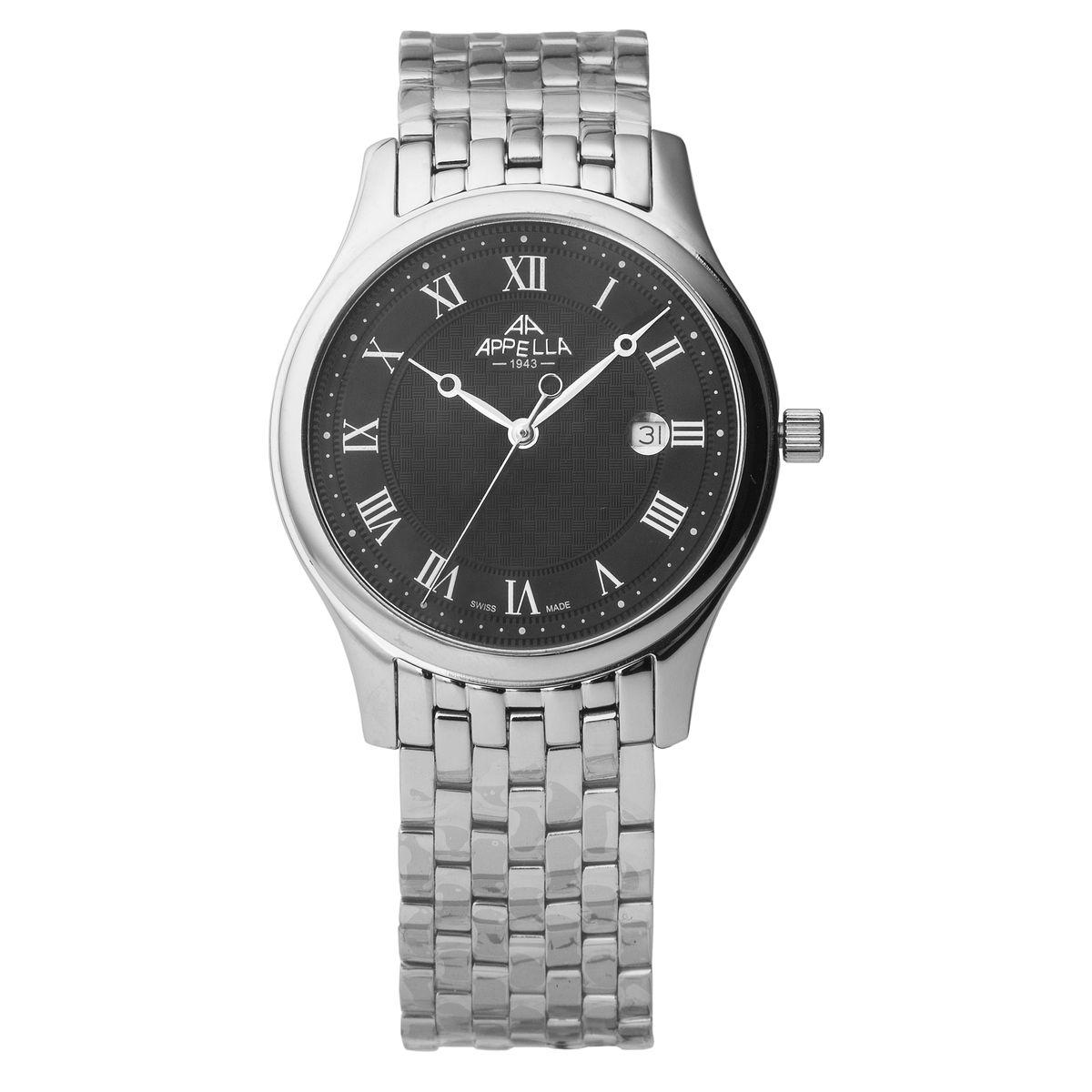 Наручные часы мужские Apella, цвет: стальной. A-4281-3004A-4281-3004Наручные женские часы. Материал-нержавеющая сталь.Кварцевый механизм, производство Швейцария.