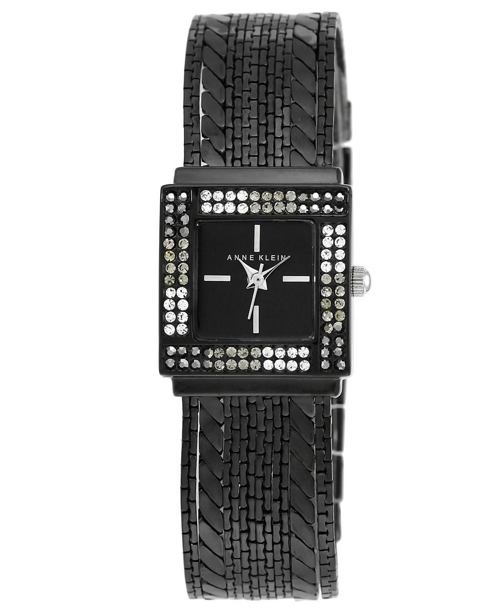 Наручные часы женские Anne Klein, цвет: черный. 1863BKBK1863BKBKКорпус: металл, черное PVD порытие, 22,2 х 22,2 мм, кристаллы, стекло: минеральное, браслет: металл, черное PVD покрытие, механизм: кварцевый, водозащита: 2 ATM