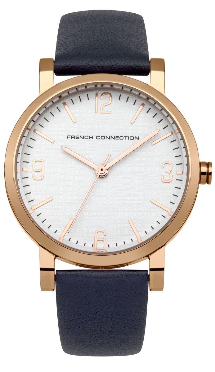 Часы наручные женские French Connection , цвет: золотой, синий. FC1249UFC1249UЭлегантные женские часы French Connection выполнены из нержавеющей стали, натуральной кожи и минерального стекла. Циферблат часов дополнен символикой бренда. Корпус часов оснащен кварцевым механизмом, имеет степень влагозащиты равную 3 atm, а также дополнен устойчивым к царапинам минеральным стеклом. Ремешок часов оснащен классической пряжкой, которая позволит с легкостью снимать и надевать изделие. Часы поставляются в фирменной упаковке. Часы French Connection подчеркнут изящность женской руки и отменное чувство стиля у их обладательницы.
