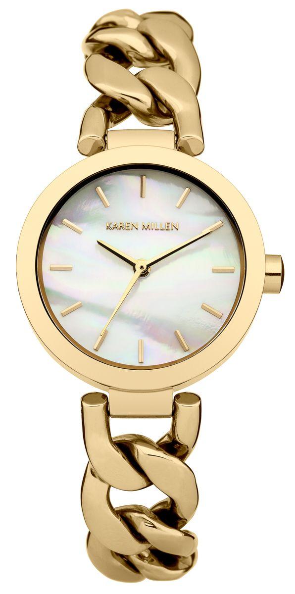 Наручные часы женские Karen Millen, цвет: золотой. KM143GM