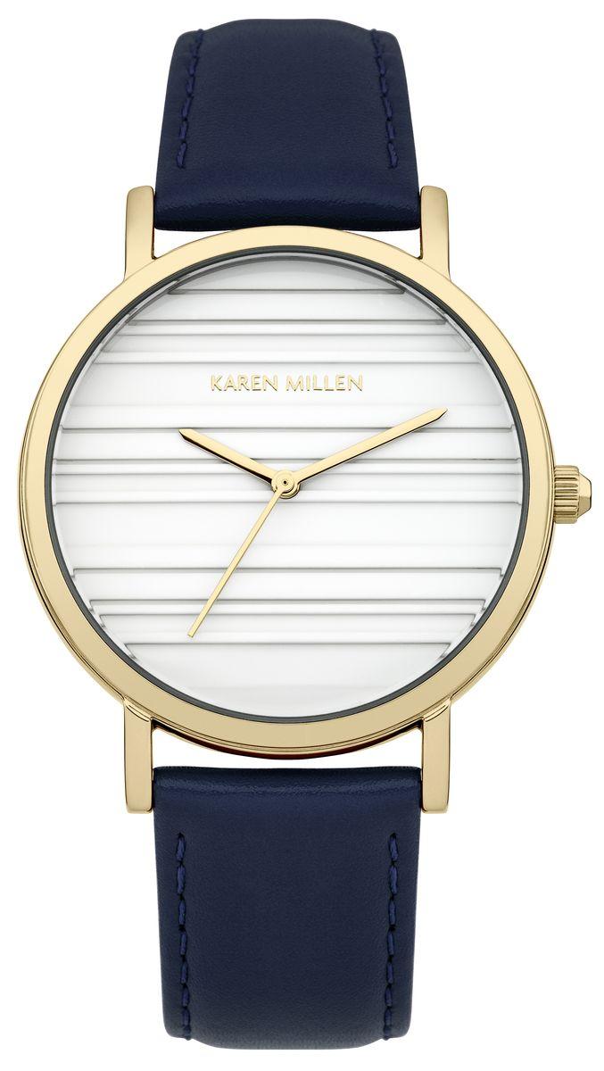 Часы наручные женские Karen Millen, цвет: золотой, синий, белый. KM154UG