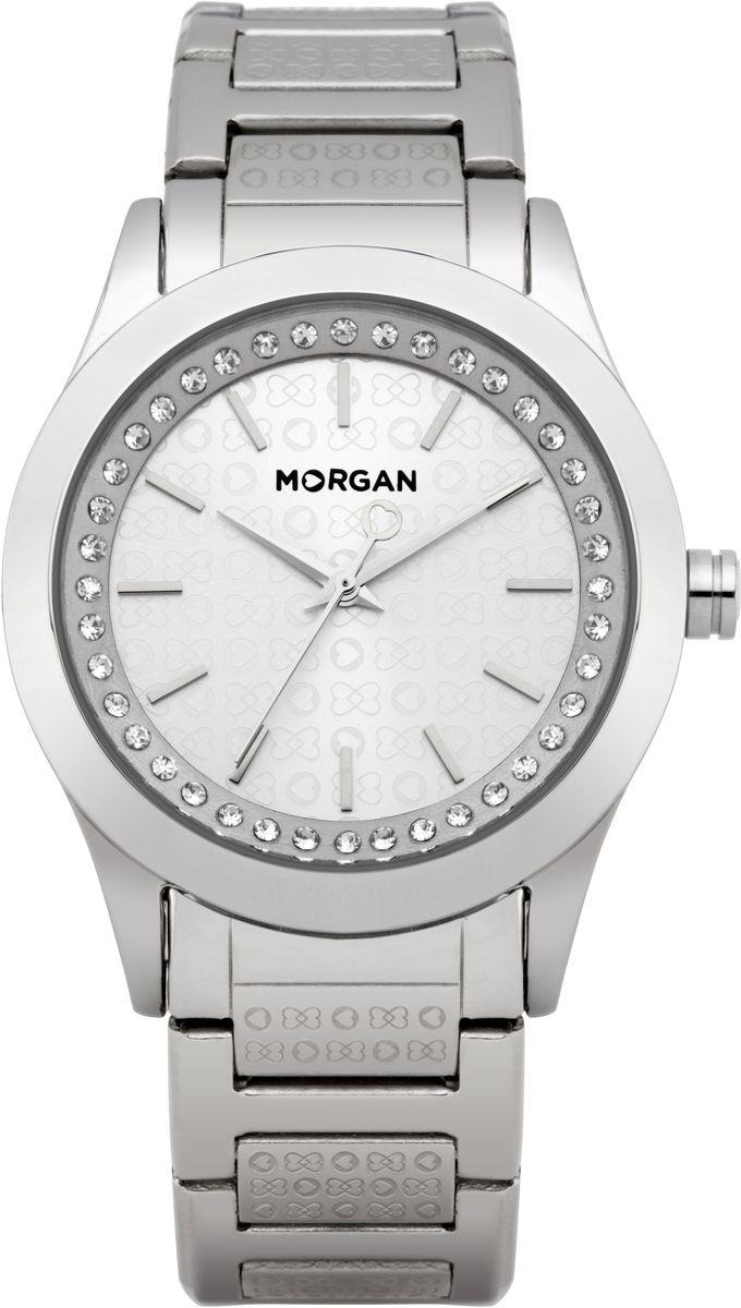 Часы наручные женские Morgan, цвет: стальной. M1139SMBRM1139SMBRОригинальные женские часы Morgan выполнены из нержавеющей стали и минерального стекла. Циферблат часов дополнен стазами и символикой бренда. Корпус часов оснащен кварцевым механизмом, имеет степень влагозащиты равную 3 atm, а также дополнен устойчивым к царапинам минеральным стеклом. Браслет часов оснащен складным замком, который позволит с легкостью снимать и надевать изделие. Часы поставляются в фирменной упаковке. Часы Morgan подчеркнут изящность женской руки и отменное чувство стиля у их обладательницы.
