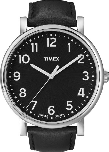 Наручные часы мужские Timex, цвет: черный, серый. T2N339T2N339Корпус 42мм, ремешок из натуральной кожи черного цвета, циферблат черного цвета, водозащита 3АТМ, подсветка INDIGLO