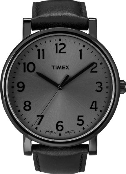 Наручные часы мужские Timex, цвет: черный, серый. T2N346T2N346Корпус 42мм, ремешок из натуральной кожи серого цвета, циферблат серого цвета, водозащита 3АТМ, подсветка INDIGLO