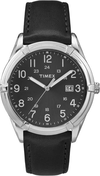Часы наручные мужские Timex, цвет: черный, серебряный. TW2P76700TW2P76700Стильные мужские часы Timex, выполнены из металлического сплава, натуральной кожи и минерального стекла. Циферблат часов дополнен символикой бренда. Часы оснащены кварцевым механизмом, имеют степень влагозащиты равную 3 atm, а также дополнены устойчивым к царапинам минеральным стеклом и индикатором даты. Стрелки часов дополнены светящимся составом. Ремешок часов оснащен классической пряжкой, которая позволит с легкостью снимать и надевать изделие. Часы поставляются в фирменной упаковке. Часы Timex подчеркнут отменное чувство стиля своего обладателя.