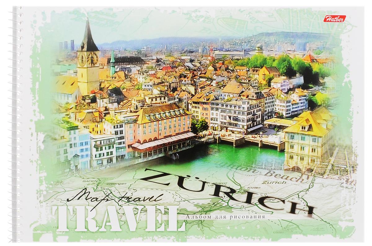 Hatber Альбом для рисования Zurich 32 листа32А4Bсп_ZurichАльбом для рисования Hatber Zurich прекрасно подходит для рисования карандашами, фломастерами, акварельными и гуашевыми красками. Обложка выполнена из плотного картона и оформлена изображением города Цюриха. В альбоме 32 листа. Крепление - спираль. На листах тонким пунктиром выполнена перфорация для последующего их отрыва. Альбом для рисования непременно порадует художника и вдохновит его на творчество. Рисование позволяет развивать творческие способности, кроме того, это увлекательный досуг.