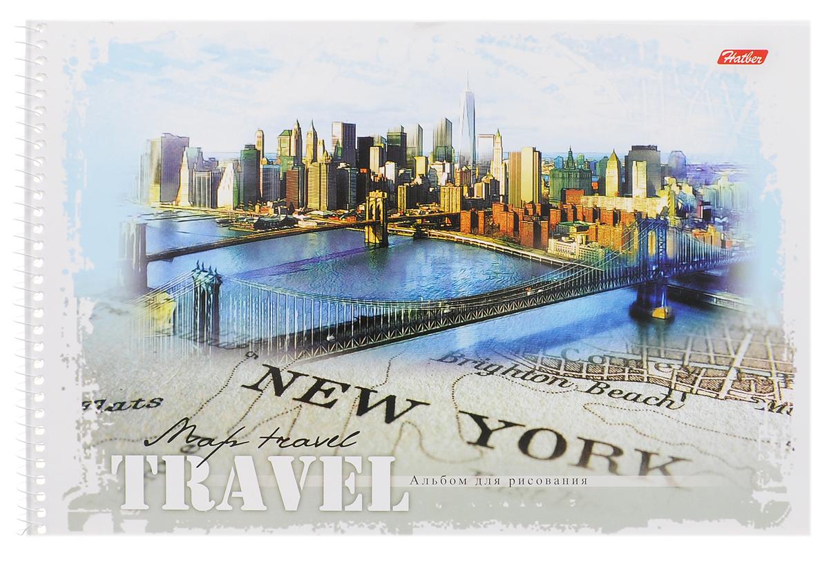Hatber Альбом для рисования New York 32 листа32А4Bсп_New YorkАльбом для рисования Hatber New York прекрасно подходит для рисования карандашами, фломастерами, акварельными и гуашевыми красками. Обложка выполнена из плотного картона и оформлена изображением города Нью-Йорка. В альбоме 32 листа. Крепление - спираль. На листах тонким пунктиром выполнена перфорация для последующего их отрыва. Альбом для рисования непременно порадует художника и вдохновит его на творчество. Рисование позволяет развивать творческие способности, кроме того, это увлекательный досуг.