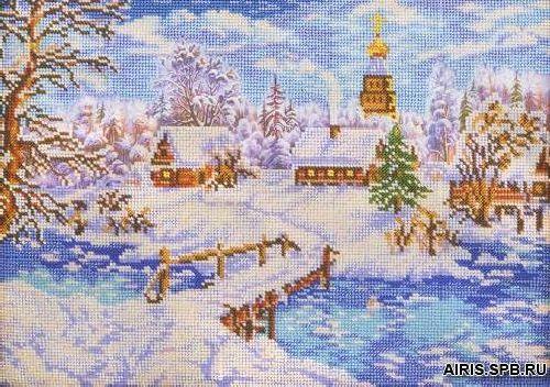 В240 Набор для вышивания бисером 27x38 см Рождественская сказка645358Название : Рождественская сказка Размер : 27x38 см канва с нанесенным рисунком, чешский бисер, игла для бисера, инструкция и описание к работе.