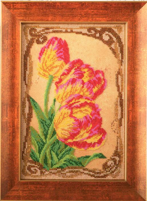 Набор для вышивания бисером Кроше Бархатные тюльпаны, 17 x 26 см694613Набор для вышивания бисером Кроше Бархатные тюльпаны поможет вам создать свой личный шедевр - красивую картину, вышитую бисером по цветному фону. Работа, выполненная своими руками, станет отличным подарком для друзей и близких! Набор содержит: - ткань с нанесенным цветным рисунком, - бисер ювелирный, - 2 иглы для бисера, - инструкция на русском языке. ВНИМАНИЕ! Рамка в комплект не входит, а служит для визуального восприятия товара.