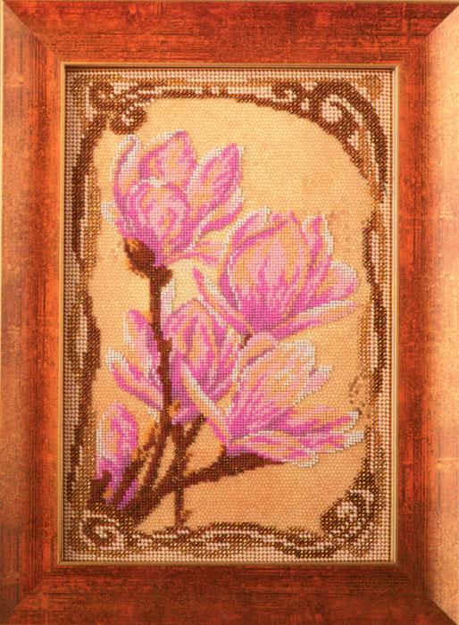 Набор для вышивания бисером Кроше Трогательные магнолии, 17 x 26 см694615Набор для вышивания бисером Кроше Трогательные магнолии поможет вам создать свой личный шедевр - красивую картину, вышитую бисером по цветному фону. Работа, выполненная своими руками, станет отличным подарком для друзей и близких! Набор содержит: - ткань с нанесенным цветным рисунком, - бисер ювелирный, - 2 иглы для бисера, - инструкция на русском языке. ВНИМАНИЕ! Рамка в комплект не входит, а служит для визуального восприятия товара.