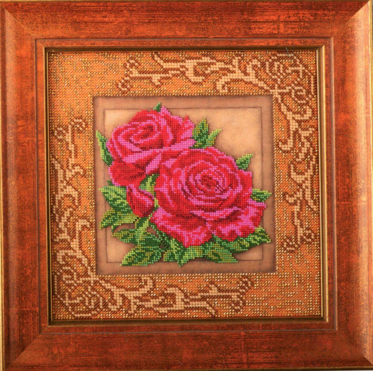 Набор для вышивания бисером Кроше Роскошные розы, 20,5 x 20,5 см694617Набор для вышивания бисером Кроше Роскошные розы поможет вам создать свой личный шедевр - красивую картину, вышитую бисером по цветному фону. Работа, выполненная своими руками, станет отличным подарком для друзей и близких! Набор содержит: - ткань с нанесенным цветным рисунком, - бисер ювелирный, - 2 иглы для бисера, - инструкция на русском языке. ВНИМАНИЕ! Рамка в комплект не входит, а служит для визуального восприятия товара.