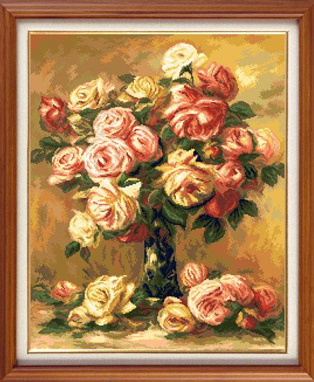 Набор для вышивания крестом Гобелен Классик Розы, 34 х 42 см7710961Набор для вышивания Гобелен Классик Розы поможет создать вам свой личный шедевр. В нем есть все необходимое для создания собственного чуда. Красивый и стильный рисунок-вышивка, выполненный на канве, выглядит оригинально и всегда модно. Работа, сделанная своими руками, создаст особый уют и атмосферу в доме и долгие годы будет радовать вас и ваших близких. А подарок, выполненный собственноручно, станет самым ценным для друзей и знакомых. В набор входит: - канва Aida 16 с обработанными краями, - нитки мулине DMC - 31 цвет, - игла с золотым ушком, - цветная схема, - инструкция на русском языке. Техника вышивания - счетный крест Размер готового изображения: 34 см х 42 см. Размер канвы: 42 см х 50 см. УВАЖАЕМЫЕ КЛИЕНТЫ! Обращаем ваше внимание, на тот факт, что рамка в комплект не входит, а служит для визуального восприятия товара.