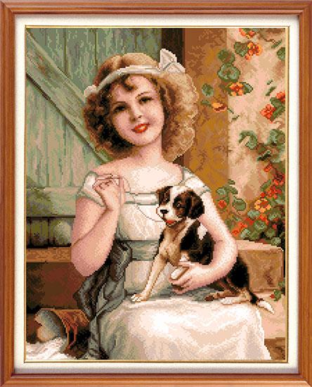 Набор для вышивания крестом Гобелен Классик Девочка с собачкой, 29 см х 37,5 см7710965Набор для вышивания Гобелен Классик Девочка с собачкой поможет создать вам свой личный шедевр. В нем есть все необходимое для создания собственного чуда. Красивый и стильный рисунок-вышивка, выполненный на канве, выглядит оригинально и всегда модно. Работа, сделанная своими руками, создаст особый уют и атмосферу в доме и долгие годы будет радовать вас и ваших близких. А подарок, выполненный собственноручно, станет самым ценным для друзей и знакомых. В набор входит: - канва Aida 16 с обработанными краями, - нитки мулине DMC - 37 цветов, - игла с золотым ушком, - цветная схема, - инструкция на русском языке. Техника вышивания - счетный крест. Размер готового изображения: 29 см х 37,5 см. Размер канвы: 37 см х 46,5 см. УВАЖАЕМЫЕ КЛИЕНТЫ! Обращаем ваше внимание, на тот факт, что рамка в комплект не входит, а служит для визуального восприятия товара.