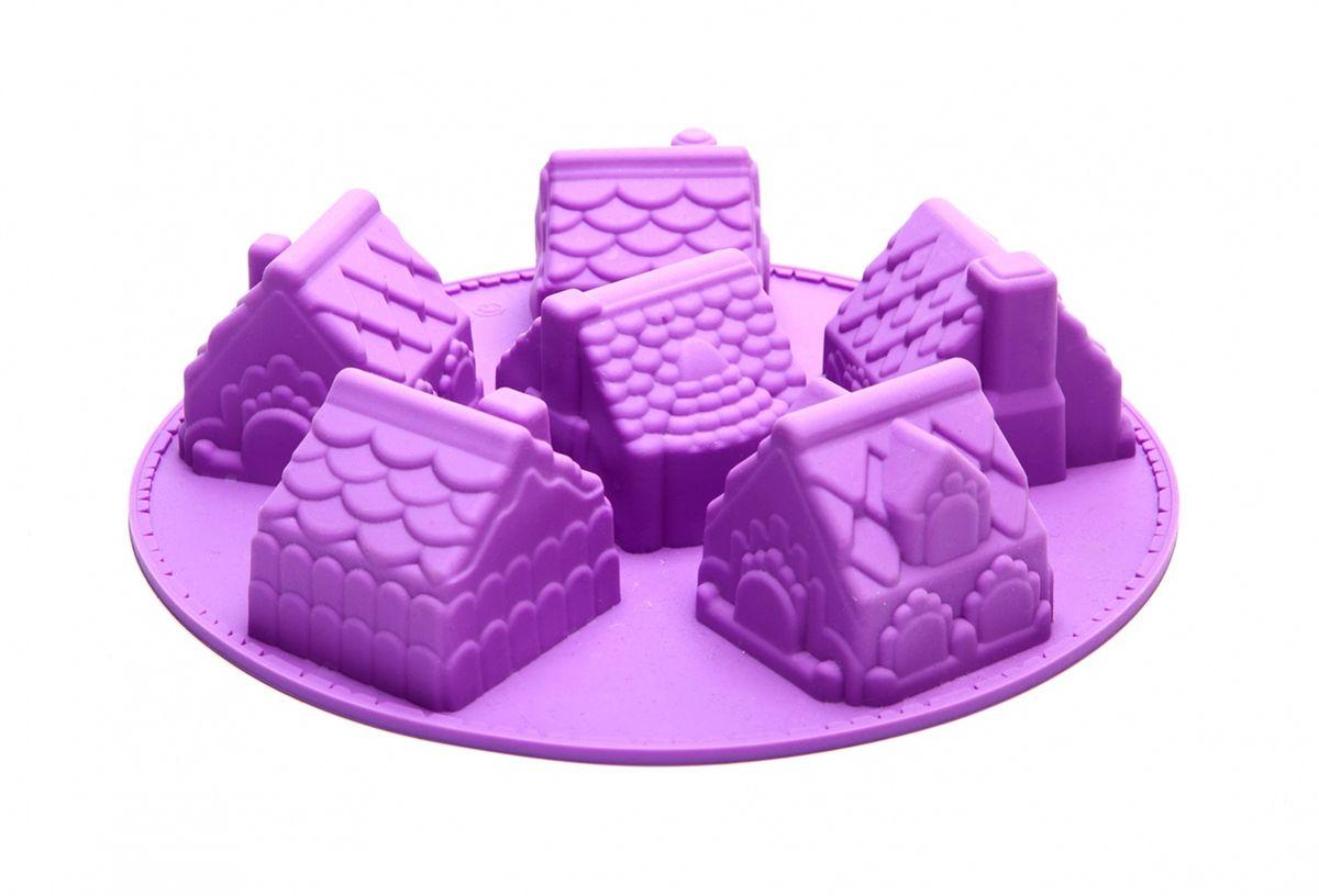 Форма для выпечки Имбирный домик. TK 0179TK 0179Красивая подача десерта приносит не меньшее удовольствие, чем его безупречный вкус! Миниатюрный кекс «ИМБИРНЫЙ ДОМИК», украшенный кремом, драже или сахарной пудрой, станет Вашим настоящим кулинарным шедевром! Оригинальный, с множеством мелких деталей, десерт впечатлит детей и взрослых! Антипригарная форма для выпечки «ИМБИРНЫЙ ДОМИК» не требует смазки маслом и позволяют легко вынуть десерт: достаточно аккуратно вывернуть форму, предварительно немного охладив ее. Форма для выпечки «ИМБИРНЫЙ ДОМИК» станет отличным подарком для хозяйки, стремящейся создать уют на кухне и в доме!