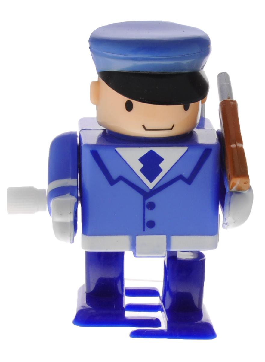 Hans Игрушка заводная Солдат цвет голубой2K-41BD_голубойЗаводная игрушка Hans Солдат с механическим заводом непременно понравится малышу и станет его любимой игрушкой! Заведите игрушку с помощью специального рычажка, и она начнет двигаться. Игра с заводными игрушками способствует приятному времяпрепровождению, стимулирует ребенка к активным действиям, научит устанавливать причинно- следственные связи. Мелкие детали и разнофактурные материалы благоприятствуют развитию тактильных ощущений и моторики пальчиков, а яркие цвета и забавные формы стимулируют зрение.