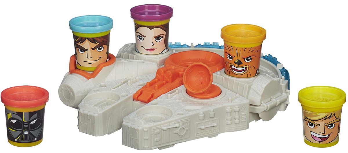 Play-Doh Игровой набор Тысячелетний СоколB0002EU4Позвольте своему воображению перенести вас к приключениям в далекую-далекую галактику! Теперь банки пластилина - часть игры: воссоздавайте собственные битвы Play-Doh с классическими персонажами Звездных войн. Спешите навстречу эпическим галактическим приключениям с банками, изображающими персонажей, и Тысячелетним Соколом и выдумайте собственную межзвездную битву с Дартом Вейдером. Сажайте Люка Скайуокера, Чубакку и остальную команду Повстанцев на их места в форме круга для банки и взлетайте. При помощи штампов, складных форм и полуформ создавайте метеориты, звездные истребители X-wing и многое другое. Поставьте свои творения в хвост корабля и прижмите спутник книзу, чтобы их запустить! Да прибудет с вами Сила! Набор содержит: установку с пусковым механизмом, 5 съемных штампов для двигателей и 5 героев-банок. В каждой банке-персонаже 56 г пластилина Play-Doh. Для детей старше 3 лет.