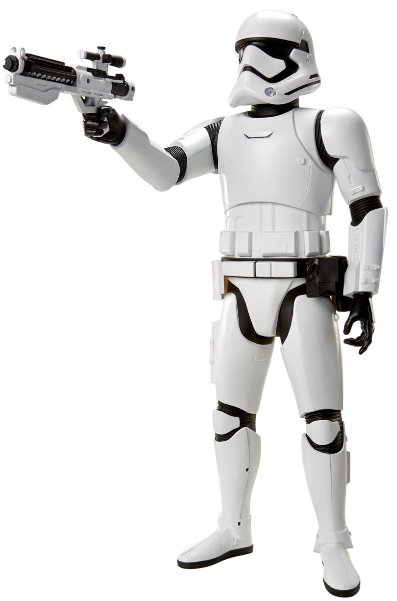 Star Wars Фигурка Штурмовик 46 см908250Фигурка Star Wars Штурмовик выполнена в виде персонажа 7 эпизода фантастической киноэпопеи Звездные Войны. Фигурка изготовлена из качественного цветного пластика, имеет подвижные голову и руки. Герой вооружен внушительным бластером. Фигурка понравится как детям, так и взрослым коллекционерам, она станет отличным сувениром или займет достойное место в коллекции любого поклонника знаменитой космической саги.