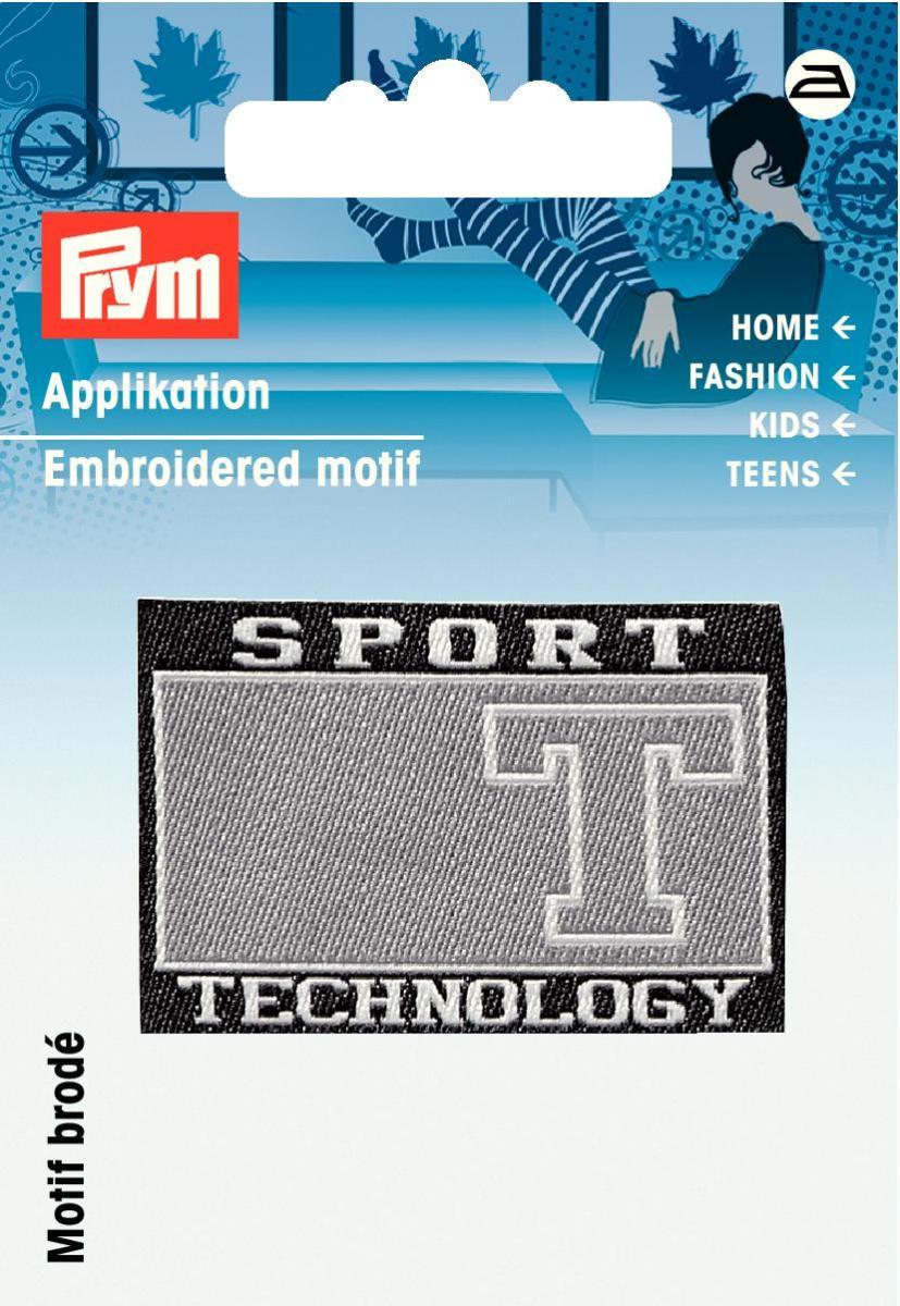 925805 Аппликация Sports черный/серый цв. Prym343244