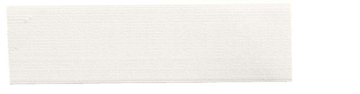 Лента эластичная Prym, мягкая, цвет: белый, ширина 4 см, длина 10 м694177Мягкая эластичная лента Prym выполнена из полиэстера (57%) и эластомера (43%). Тканые эластичные нити изготавливают из основной и уточной нитей, которые располагаются вдоль и поперек ленты. При растяжении такие ленты сохраняют размер ширины. Длина ленты: 10 м. Ширина ленты: 4 см.