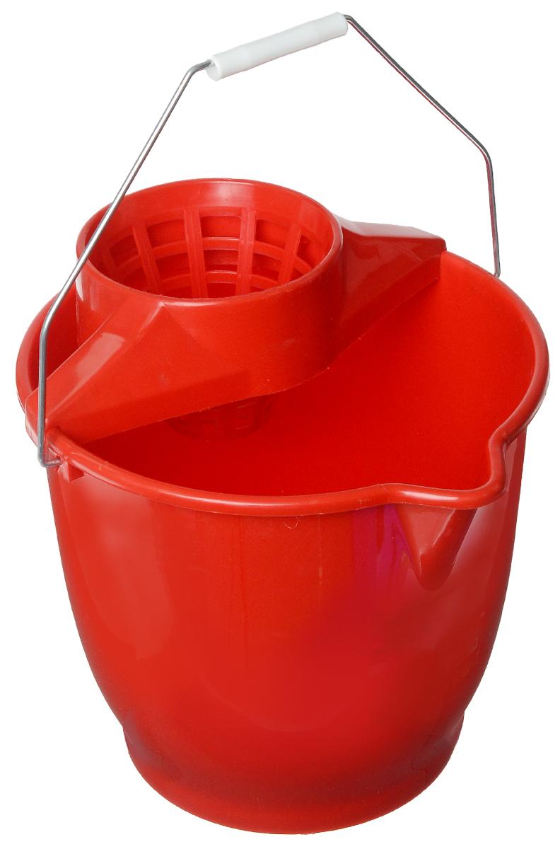 Ведро Tonkita, с насадкой для отжима швабры, цвет: красный, 12 лTK691Ведро Tonkita, изготовленное из прочного пластика, порадует практичных хозяек. Изделие снабжено специальной насадкой, которая обеспечивает интенсивный отжим ленточных швабр. Это значительно уменьшает физические нагрузки при мытье полов. Насадка надежно крепится на ведро и также легко снимается, позволяя хранить ее отдельно. Для удобного использования ведро оснащено металлической ручкой, и носиком для выливания воды.